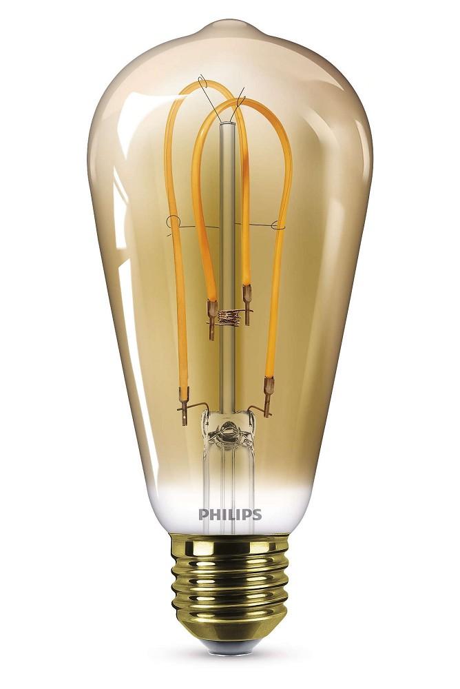 250 lumen philips ledclassic st64 filament e27 lampe 5w. Black Bedroom Furniture Sets. Home Design Ideas