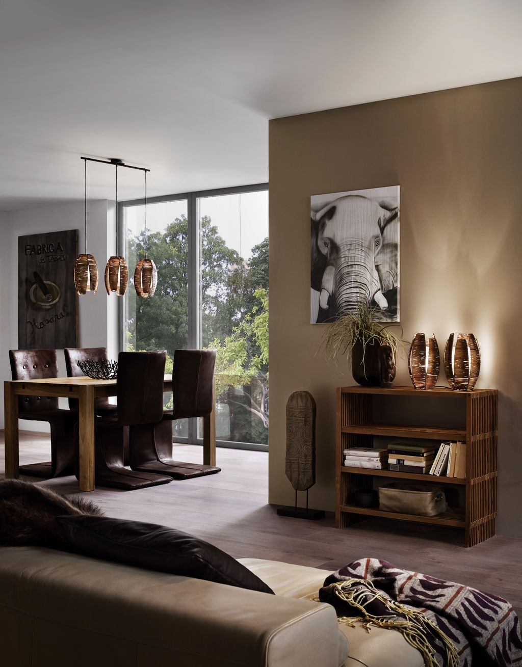 eglo 91014 mongu e27 tischleuchte braun. Black Bedroom Furniture Sets. Home Design Ideas
