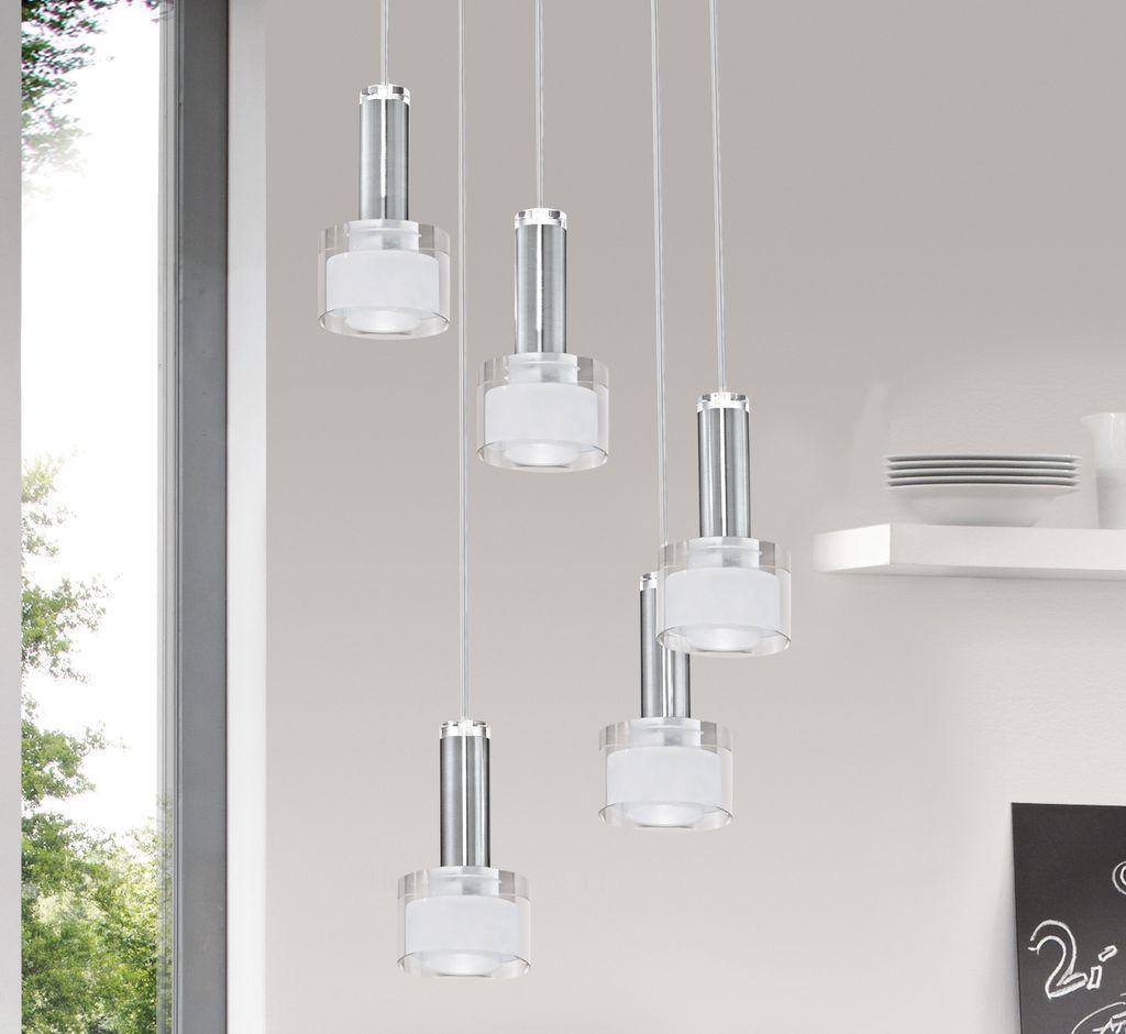 eglo 93931 fabiana 1 led h ngeleuchte chrom. Black Bedroom Furniture Sets. Home Design Ideas