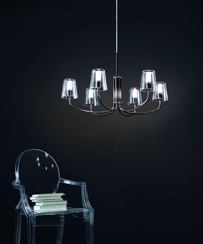 eglo 95005 noventa led h ngeleuchte nickel nero. Black Bedroom Furniture Sets. Home Design Ideas