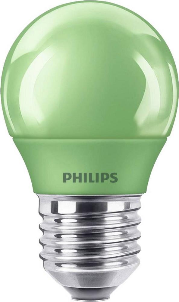 Merveilleux PHILIPS LED Colored Green E27 P45 3.1W Tropfenlampe Lichtfarbe: Grün