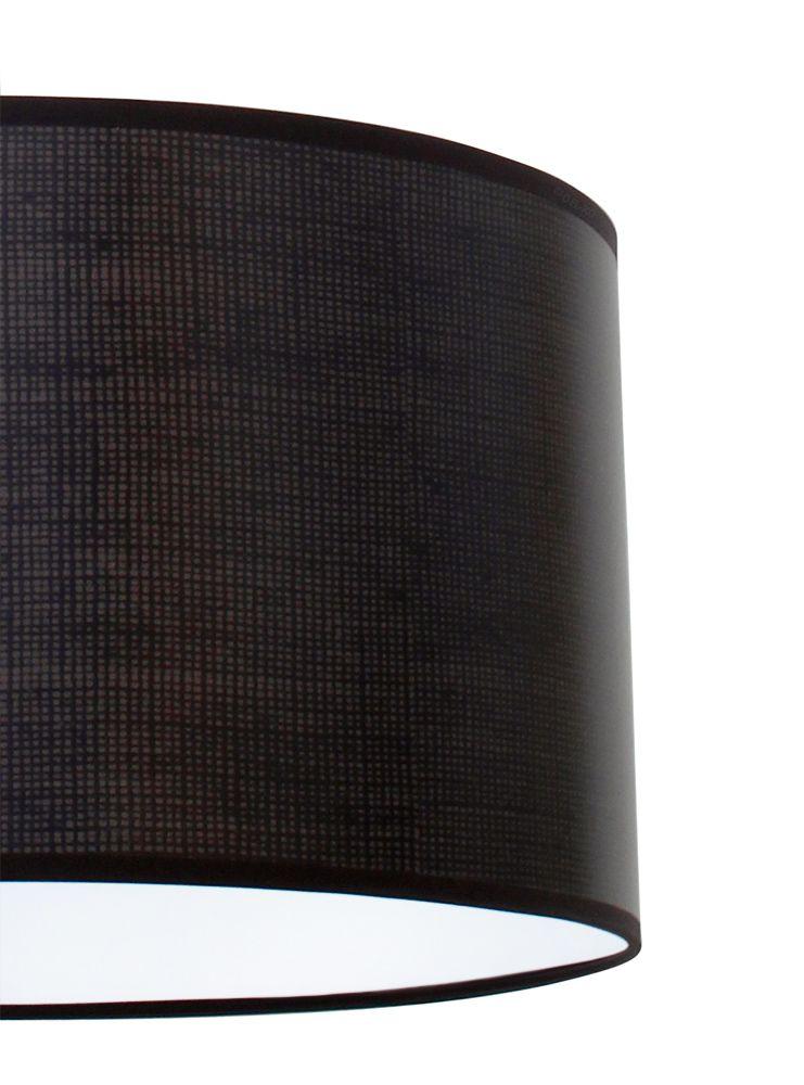 bioledex aniso pendelleuchte stoff design grob dunkel grau e27 35cm l110919. Black Bedroom Furniture Sets. Home Design Ideas