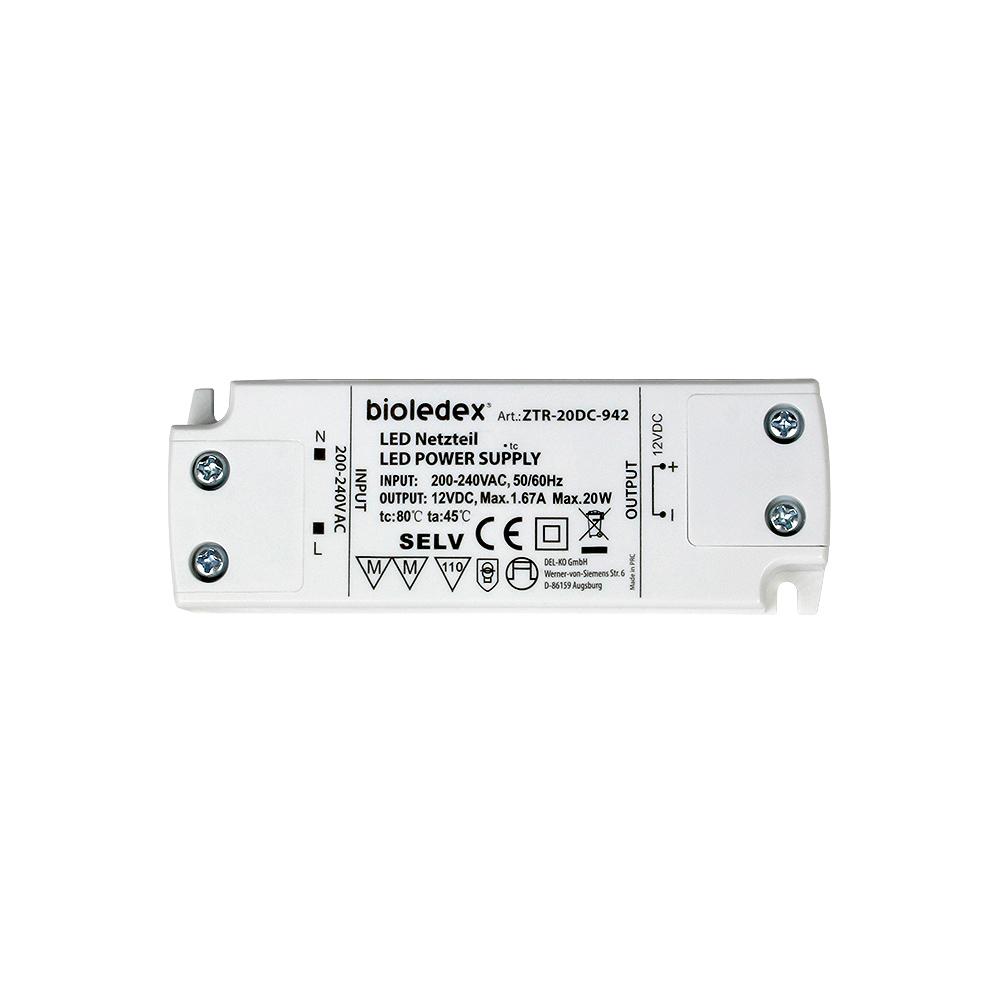 BIOLEDEX® 12V DC Trafo bis 20W für LED Lampen