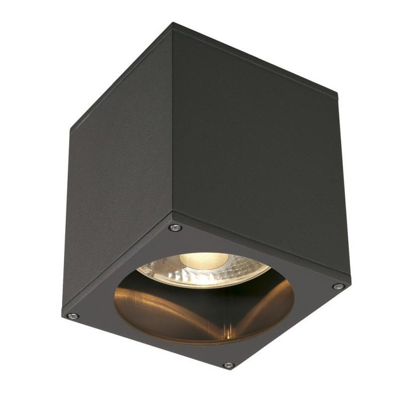 slv 229555 big theo ceiling out deckenleuchte gu10 eckig anthrazit a. Black Bedroom Furniture Sets. Home Design Ideas