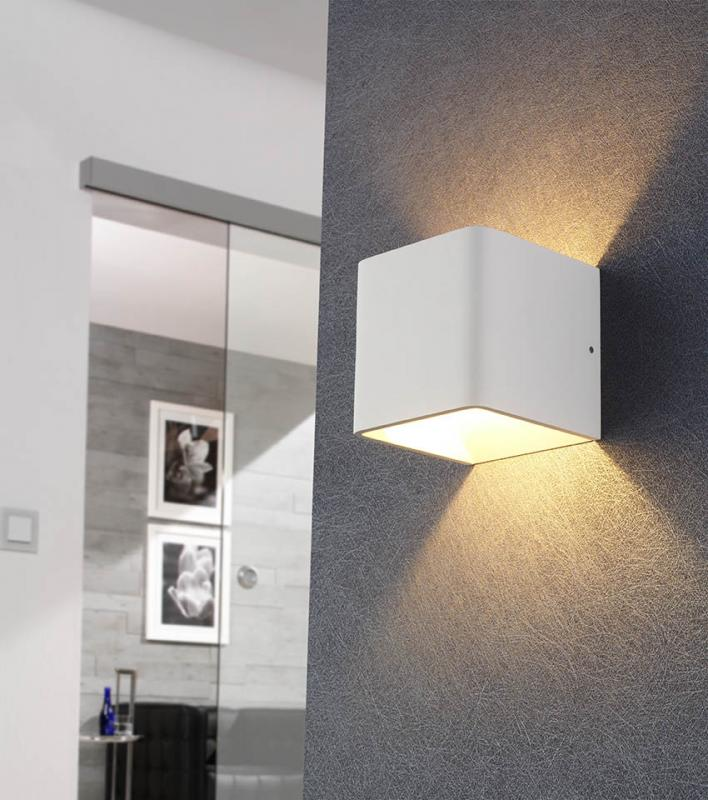 Mylight FULDA LED Wandleuchte dimmbar weiß, Up- and Downlight