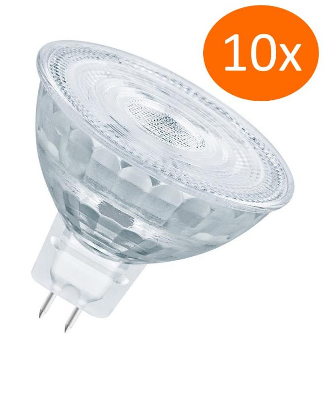 10x Osram LED Superstar MR16 35 36° GU5.3 Strahler Glas 2700K dimmbar