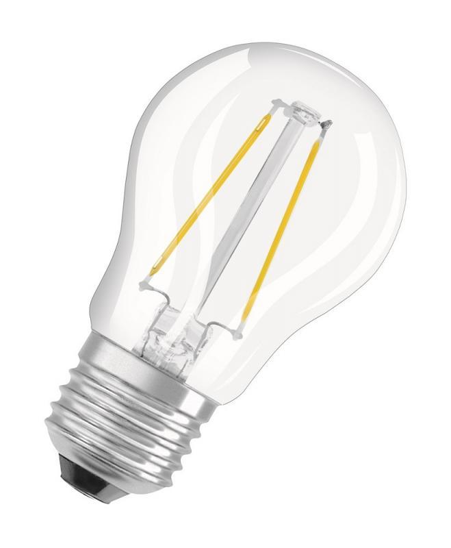 136 Lumen Osram LED RETROFIT P15 E27 Filament Tropfen 1.2W 2700K wie 15W