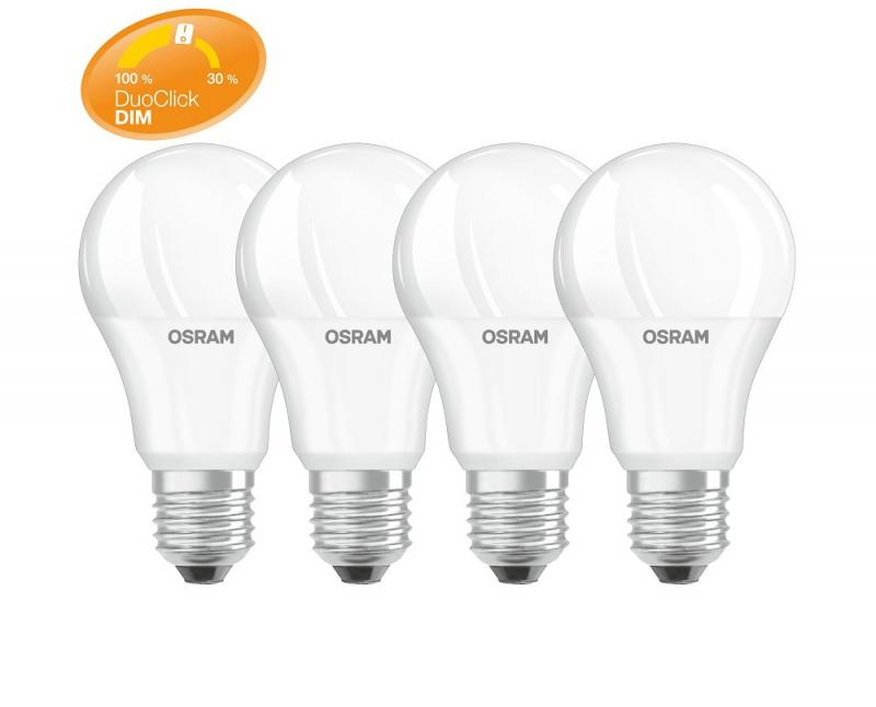 4 x Osram LED Superstar DUO CLICK DIM A60 E27 Lampe 8.5W warmweiß
