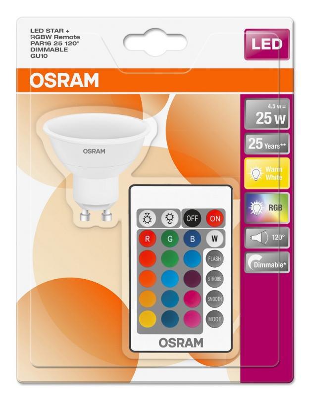 Osram Led Star Par16 : osram led star rgbw par16 25 120 remote gu10 strahler ~ Watch28wear.com Haus und Dekorationen