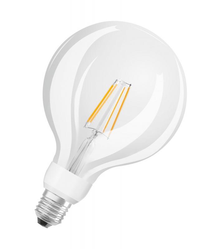 osram led glow dim globe 125 e27 dimmbar 7w. Black Bedroom Furniture Sets. Home Design Ideas