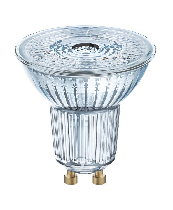 12 x OSRAM LED BASE PAR16 GU10 GLAS LED Strahler 3.6W=50W 36° 4000K Cool white