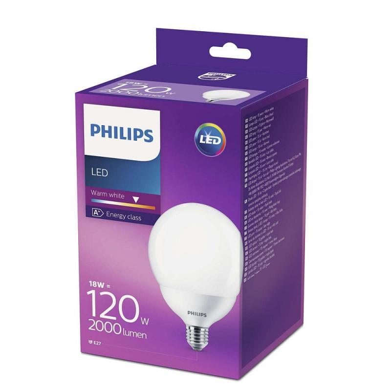 2000 Lumen Philips Led Globe G120 E27 Lampe 18w 2700k Wie 120w