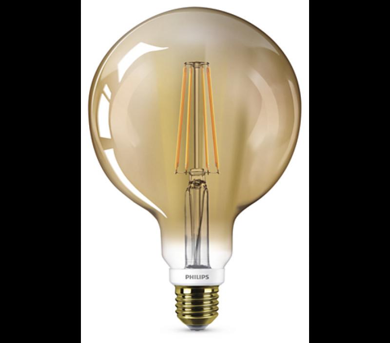 630 lumen philips ledclassic gold filament e27 lampe 8w 2200k wie 50w. Black Bedroom Furniture Sets. Home Design Ideas