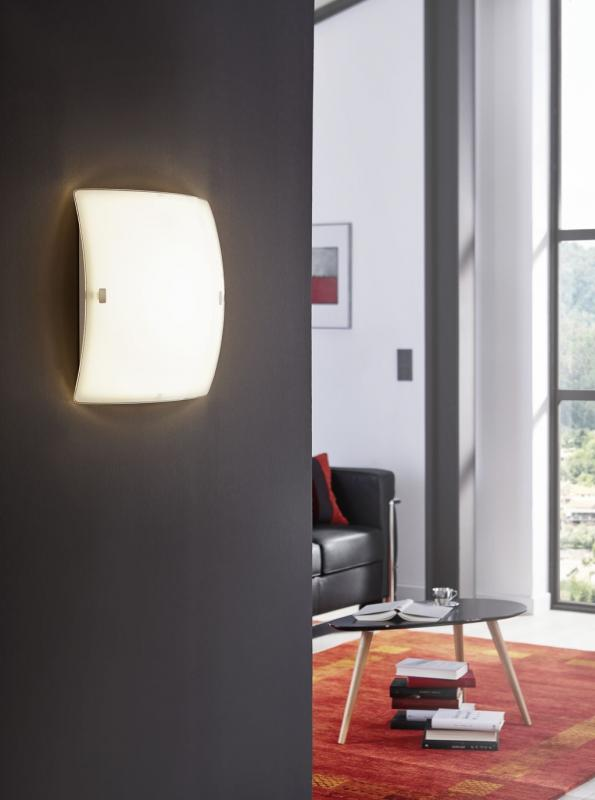 eglo 91852 led borgo 2 led wand deckenleuchte weiss. Black Bedroom Furniture Sets. Home Design Ideas