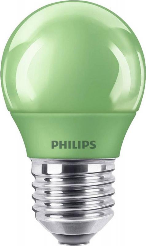 philips led colered green e27 p45 3 1w tropfenlampe. Black Bedroom Furniture Sets. Home Design Ideas