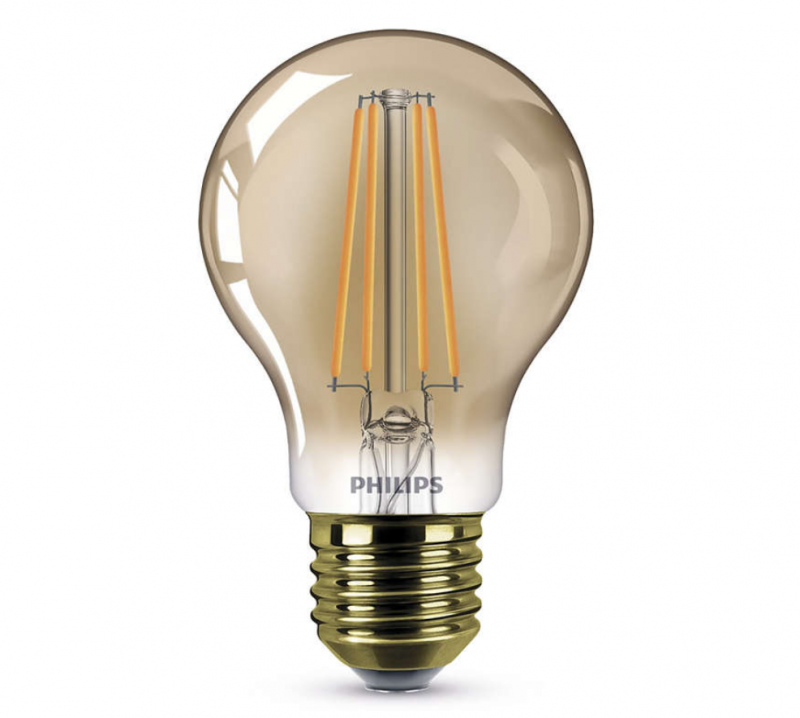 610 lumen philips ledclassic gold d srt4 e27 lampe 7 5w. Black Bedroom Furniture Sets. Home Design Ideas