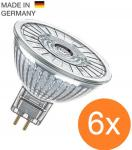 6er Pack OSRAM LED STAR MR16 35 36° GU5.3 Strahler Glas 2700K = 35W