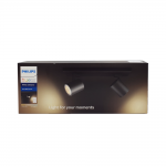 Philips Hue White Ambiance Runner LED 2er Spot Basis Set schwarz mit Dimmerschalter