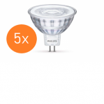 Philips Core Pro LED Spot 5er Multipack MR16 GU5.3 5W Ersatz für 35W 2700K A+ Glas
